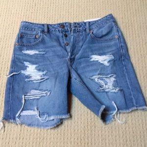 American Eagle Hi-Rise Tomgirl Bermuda Shorts NWT
